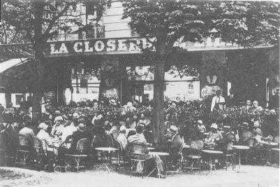 La Closerie de Lilas cafe in 1909