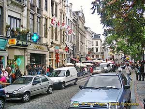 Brussels shops and restaurants
