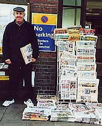 English Newpaper vendor