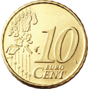 10 cent coin (front)