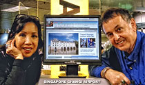 Helen and Tony Page at Singaapore Changi Airport
