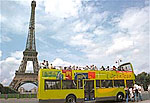 Hop-on, hop-off buses are available in Paris