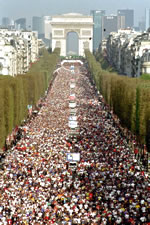Paris Marathon on the Champs Elysees