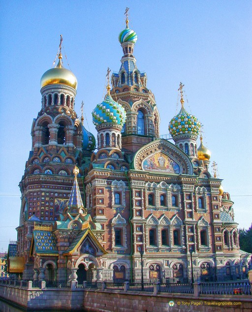 Church on Spilt Blood or the Cathedral of the Resurrection of Christ, St Petersburg, Russia