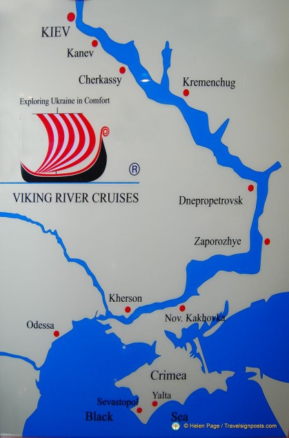 Dnieper River Cruise Map