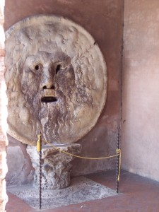 The famous Mouth of Truth - (Bocca della Verita)