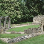 The ruins of Hailes Abbey on the Cotswold Way