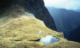 Hogh above the MacKinnon Pass on the Milford Track