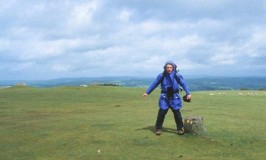 Walking on Hay Bluff, Offa's Dyke, UK
