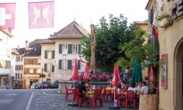 Orbe's medieval town square