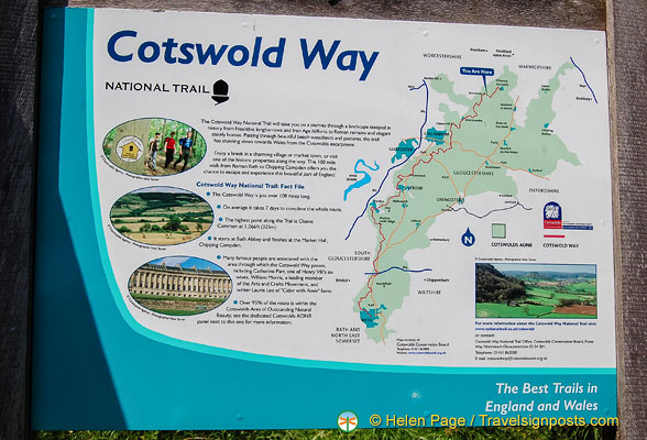 Map of Cotswold Way