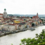View of Passau and the Danube River from Veste Oberhaus