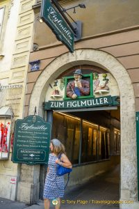 Figlmüller is famous for its Wiener Schnitzel