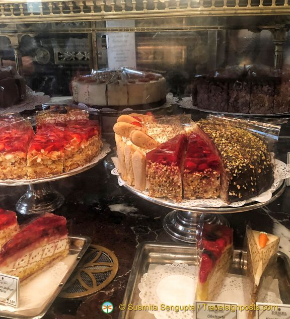 Display of mouthwatering confectionaries at Demel on Kohlmarkt