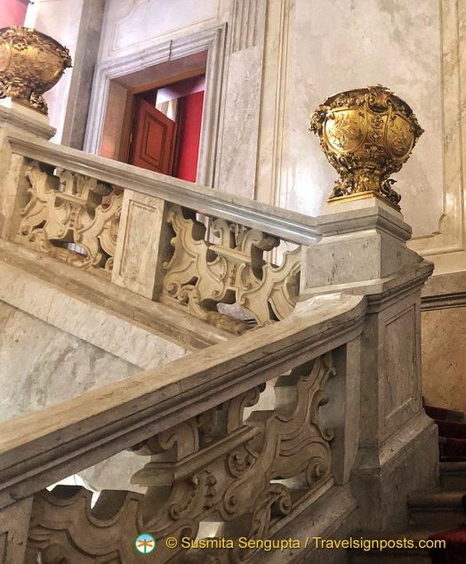 The impressive Emperor's Staircase at Hofburg Imperial Palace