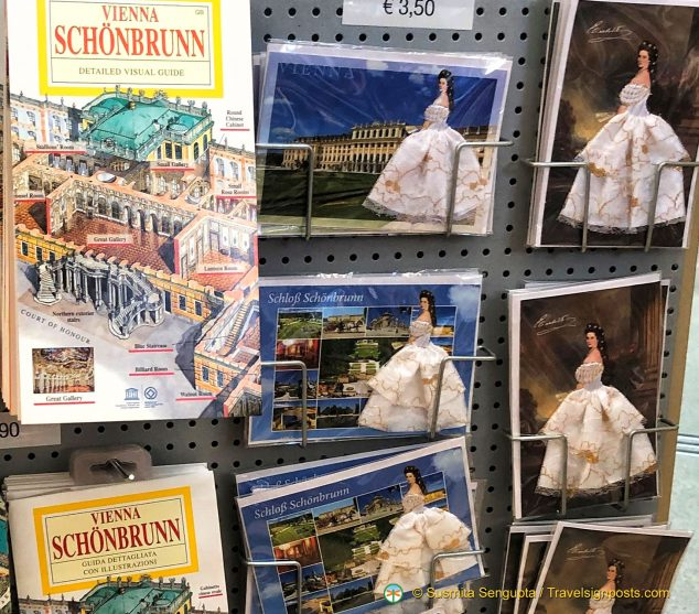 "Pictures of Empress Elisabeth ""Sisi"" adorns cards sold at Schönbrunn Palace."