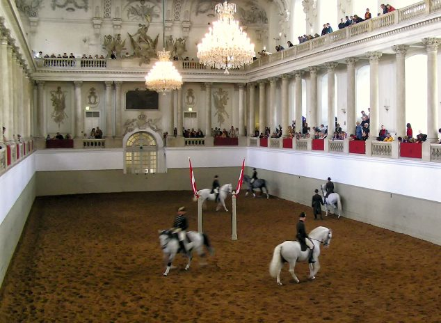 Spanish Riding School, Winter Riding School arena, Vienna, Austria: photo by sparre