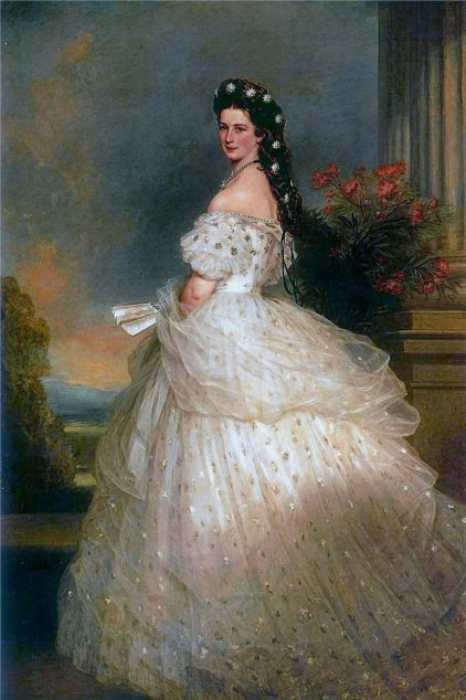 ''Empress Elisabeth'' by Franz Winterhalter, 1865. Original in the Sisi Museum, Vienna.