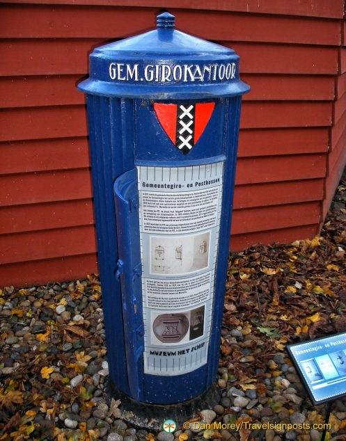 Post box designed by the Amsterdam School at Museum Het Schip