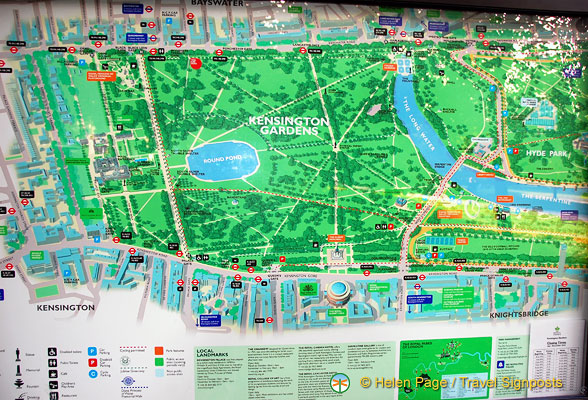 Kensington Gardens Map Map of Kensington Gardens
