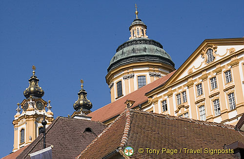 Melk town square buildings