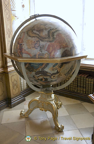 Baroque globe of the heavens by Coronelli