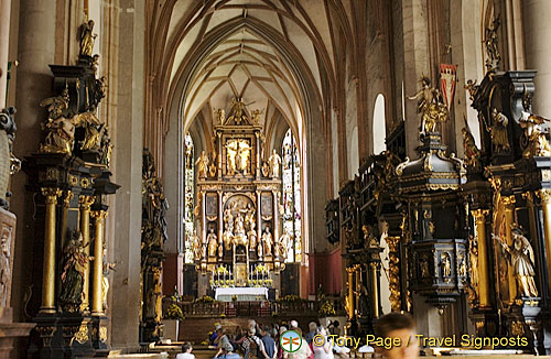 Inside Mondsee Cathedral