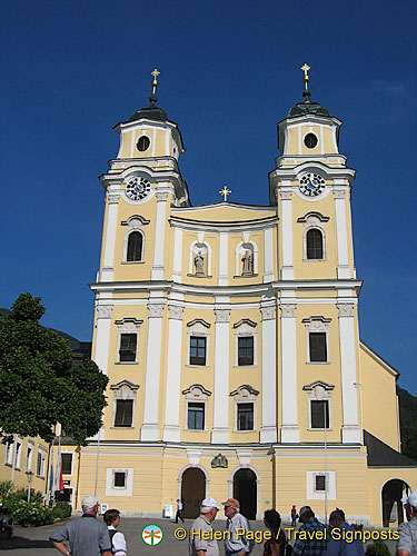 Mondsee is a small touristy town dominated by St Michael's Basilica