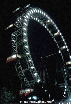 The Wheel, with its 15 gondolas, turn at a rate of 2.5 feet per second