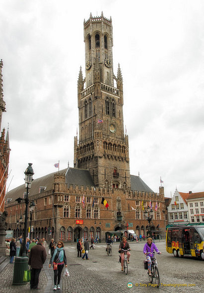 The 83-metres tall Belfort on Grote Markt