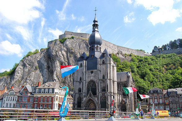 The Church of Our Lady with the Dinant Citadel as a backdrop