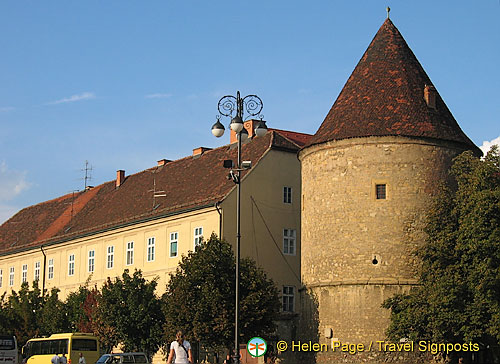 An old fortress tower near St Stephen Cathedral - Kaptol