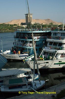 Arriving at Aswan.