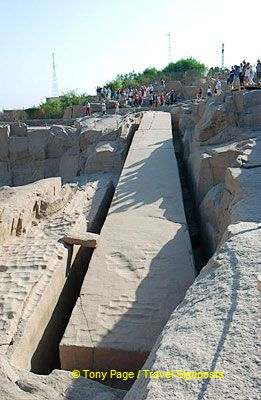 Just south of Aswan, lies this ancient granite quarry with its unfinished obelisk.