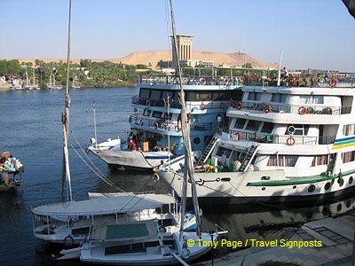 Arriving into exotic Nubia and the city of Aswan.
