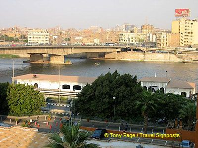 View of the Nile from our hotel room.