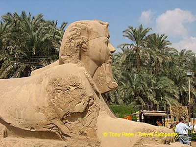 This sphinx is believed to date to the 19th Dynasty.