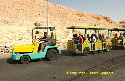 Leaving the Valley of the Kings.
