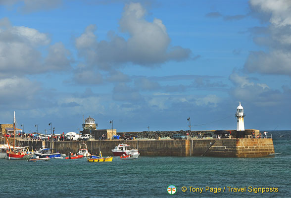 View towards St Ives lighthouse