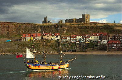 Scenic harbour - Whitby - Yorkshire Coast - England