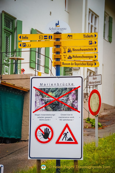 Marienbrücke is closed for maintenance
