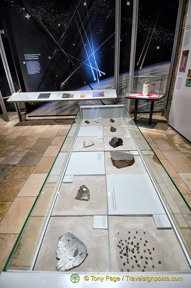 Fragments of meteorites from various areas