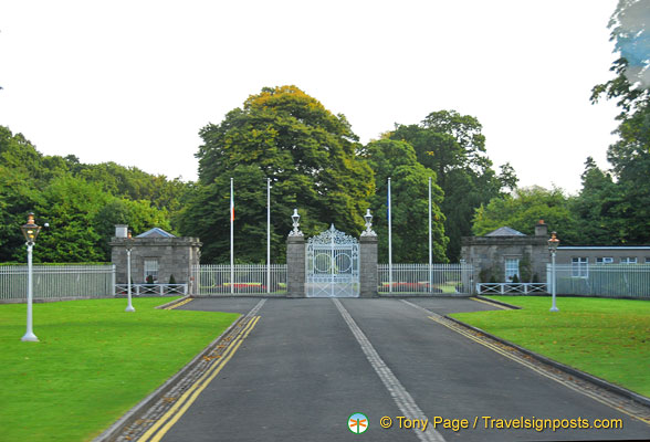 Gate to the Irish President's official residence