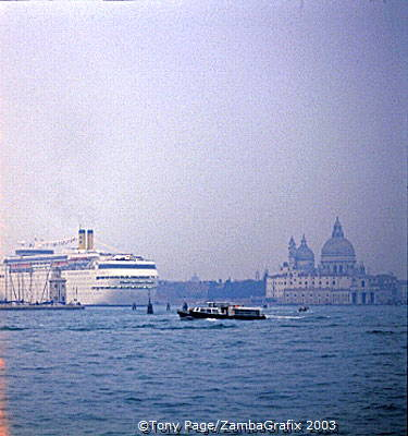 Vessels of all sizes ply the waterways of Venice[Venice - Italy]
