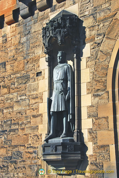 Statue of Robert the Bruce, King of Scotland