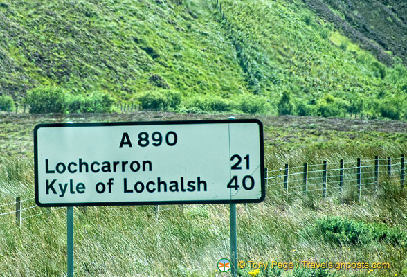 Distance to Lochcarron and Kyle of Lochalsh