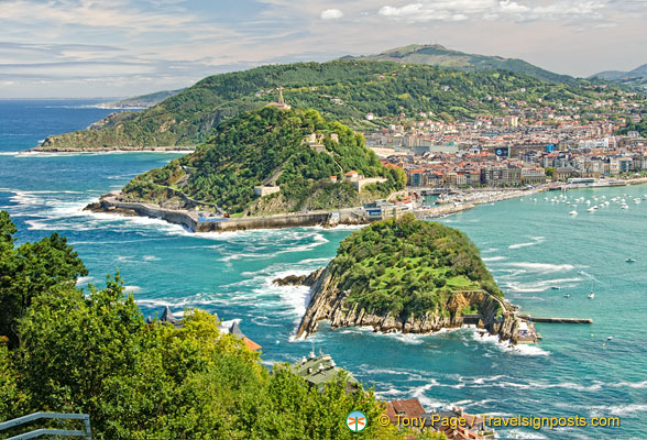 This is the most popular view of San Sebastian