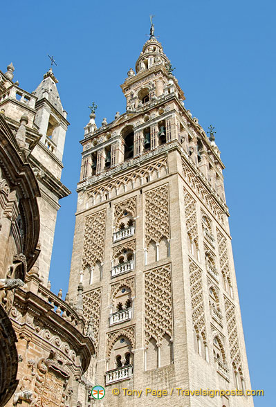 Giralda tower, one of the top three surviving Almohad towers