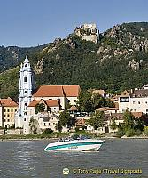View of Dürnstein from the Danube