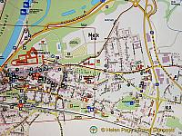 City map of Melk